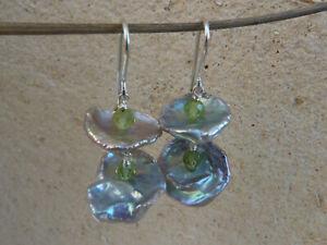 男女兼用 送料無料 ネックレス シルバーイヤリングビーズペリドットsilver 上等 earrings peridot beads keishi