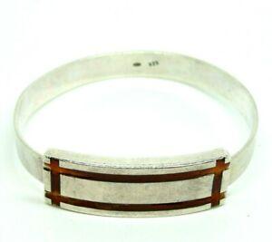 <title>送料無料 ネックレス ビンテージブレスレットスターリングシルバーイタリアvintage 格安 bracelet 70s rigid sterling silver 925 italian with enamels</title>
