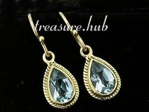 【送料無料】ネックレス イエローソリッドゴールドトパーズイヤリングe089 exquisite genuine 9ct 9k yellow solid gold natural topaz teardrop earrings