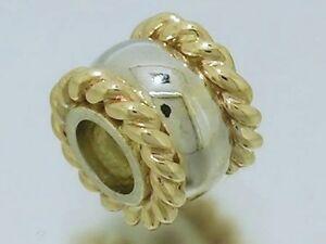 【送料無料】ネックレス ゴールドロープビーズbd057 genuine 9ct solid yellow white twotone heavy gold rope bead for engraving