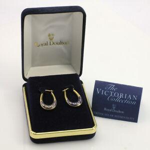 【送料無料】ネックレス ゴールドフープイヤリングボックスroyal doulton 14ct gold hoop earrings limited edition boxed amp; coa