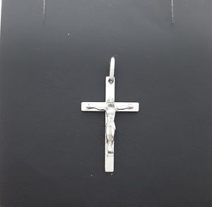 【送料無料】ネックレス ホワイトゴールドペンダントドルmiran 800025 9k white gold crucifix pendant 16g rrp 239