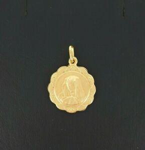 【送料無料】ネックレス イエローゴールドスキャロプマドンナメダルドルmiran 081248 9ct yellow gold large scallop madonna medal 15g rrp193