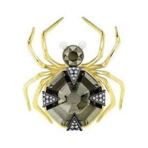【送料無料】ネックレス ブローチスワロフスキーゴールドクリスタルbrooch swarovski magnetic 5409681 metal alloy gold crystal