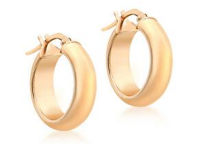 【送料無料】ネックレス 9ct17mmクレオールイアリング9ct rose gold 17mm polished creole earrings