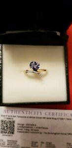 【送料無料】ネックレス イエローゴールドタンザナイトリングサイズ9ct yellow gold 111ct aa tanzanite ring with coa size pq