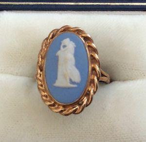 公式ショップ 祝開店大放出セール開催中 送料無料 ネックレス ビンテージゴールドリングbeautiful ladies full hallmarked vintage l large ring wedgwood 12 9ct gold
