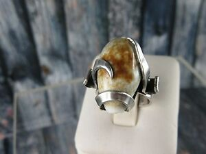 <title>男女兼用 送料無料 ネックレス デザイナーリングシェルサイズc255 modernist designer ring with shell size 52 top</title>
