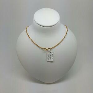 送料無料 ネックレス クリアランスsale 期間限定 ソリッドゴールドチェーンベルチャードルmiran 150345 solid 世界の人気ブランド gold chain 9ct belcher 45cm 29g 315 rrp