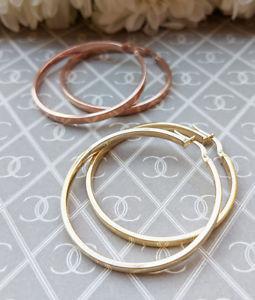 日本正規代理店品 送料無料 ネックレス ローズゴールドフープゴールドフープイヤリングlarge fine 9ct gold hoop earrings 価格交渉OK送料無料 large or 4cm rose in yellow hoops
