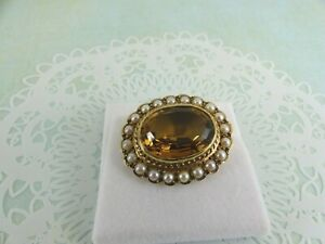 <title>送料無料 ネックレス イエローゴールドシトリンパールブローチbeautiful 9ct yellow gold citrine 爆安プライス and pearl brooch</title>