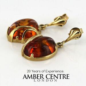 送料無料 ネックレス イタリアユニークドイツバルトゴールドドロップイヤリング¥italian made unique german baltic drop earrings rrp280 激安通販ショッピング gold ge0248 驚きの値段で amber 9ct