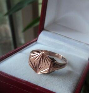 <title>送料無料 ネックレス 9ctリングhm 1925バーミンガム サイズtattractive 9ct rose gold 高品質新品 signet or fashion ring hm 1925 birmingham size t</title>