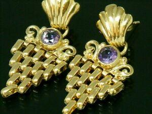 <title>送料無料 ネックレス ゴールドkゴールドアメジストアールデコデザインスポイトイヤリンググラム9ct 春の新作 gold 9k amethyst art deco design dropper hallmarked earrings 35 grams</title>