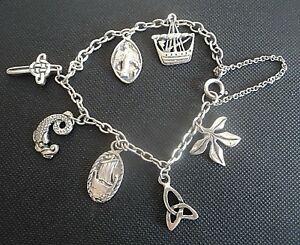 送料無料 ネックレス ビンテージポンドブレスレットエジンバラvintage stg silver charm bracelet ブランド買うならブランドオフ mhiann edinburgh 25%OFF iona arts 20023 7 charms