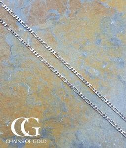 <title>送料無料 ネックレス 低価格 メンズレディースホワイトゴールドフィガロネックレスチェーン</title>
