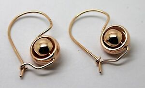 <title>送料無料 超激安 ネックレス ktローズゴールドベルチャーボールイヤリングkaedesigns genuine 9ct 9kt rose gold spinning belcher ball earrings</title>