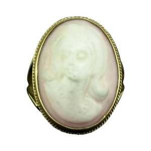 <title>送料無料 ネックレス ゴールドピンクカメオリングlovely 期間限定特価品 9ct gold pink cameo ring</title>