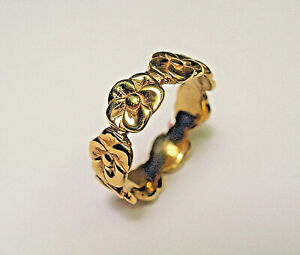 <title>送料無料 ネックレス ソリッドイエローゴールドペダルローズリング14 kt solid yellow gold five pedal rose ring 海外輸入 sz 6</title>