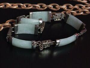 送料無料 ネックレス セージグリーンヒスイブレスレットsterling silver chinese sage boxed オンラインショッピング green 高品質新品 bracelet jade