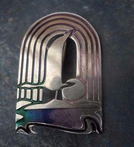 送料無料 ネックレス サンブローチシルバースコットランドエナメル パットチェイニー1980アールデコsilver scottish enamel sea bird art cheney pat sun 配送員設置送料無料 brooch deco 1980s flying 1年保証