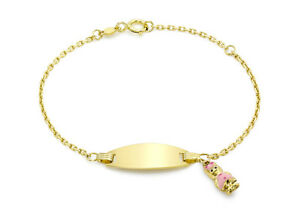 <title>送料無料 ネックレス イエローゴールドエナメルブレスレット9ct yellow gold childrens enamel girl 期間限定で特別価格 charm id bracelet 14cm55</title>