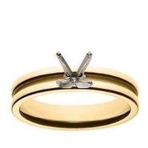 出色 送料無料 ネックレス kイエローゴールドサイズ 18k yellow gold setting size ring 無料サンプルOK ridged 45 engagement