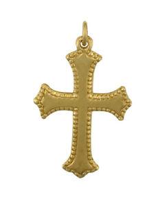【送料無料】ネックレス イエローゴールドクロス9ct yellow gold cross