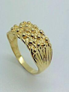 送料無料 新商品 ネックレス イエローソリッドゴールドキーパーリング9ct yellow 値引き solid keeper 4 ring gold row
