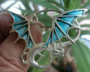 【送料無料】ネックレス スコットランドスターリングシルバーエナメルフライングドラゴンブローチパットチェイニーscottish sterling silver amp; enamel flying dragon brooch pat cheney ortak 199
