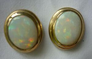 【送料無料】ネックレス オパールゴールドスタッドイヤリングロンドンfire opal 375 gold stud earrings fully hallmarked london uk