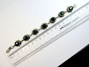 【送料無料】ネックレス ビンテージセントグリーンオニキスvintage 925 st silver line braclet studded with green onyx stones