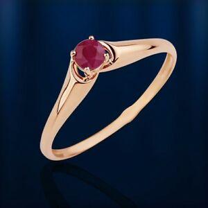 【送料無料】ネックレス ロシアソリッドゴールドルビーリングローズrussian solid rose gold 585 14ct genuine ruby ring nwt beautiful