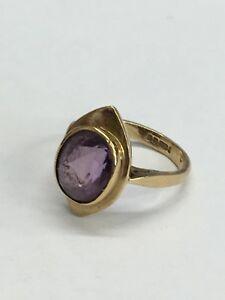 【送料無料】ネックレス ヴィンテージゴールドリングアメジストサイズグラムvintage 9ct gold ring wamethyst size h 12 3grams