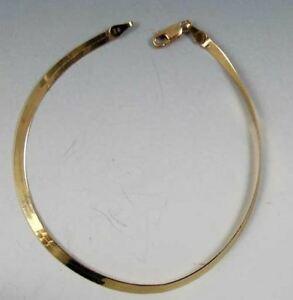 【送料無料】ネックレス イタリアゴールドヘリンボーンチェーンブレスレットitalian 14k gold herringbone chain 7 bracelet 9786a