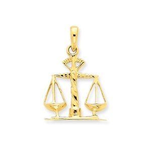 送料無料 ネックレス イエローゴールドソリッドペンダントスケール14k yellow gold gift solid poliq35Rj4AL