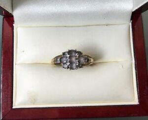 ネックレス 9ctアメジストリング23gサイズpwomens 9ct gold quality amethyst ring hallmarked weight 23g size p stamped