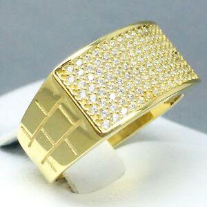ネックレス awesome 9ct yellow gold cubic zircon*bar* blingring sizep1818awesome 9ct yellow gold cubic zircon *bar* bling ring size p