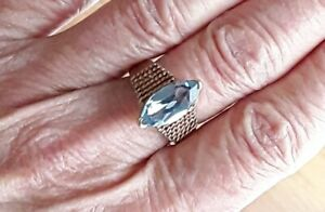 【送料無料】ネックレス 9ct rose gold vintage london blue topaz ringsz n heavy 44g 9k9ct rose gold vintage london blue topaz ring sz n heavy 44g 9