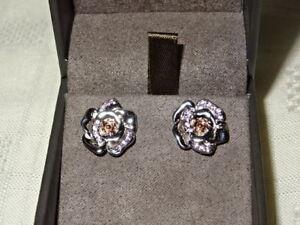 【送料無料】ネックレス ウェールズシルバーローズゴールドローズピンクサファイアイヤリング¥ welsh clogau silver amp; rose gold rose pink sapphire earrings rrp 229