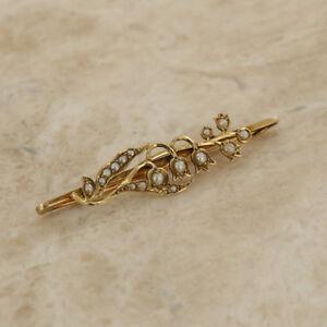 【送料無料】ネックレス 9ctイェローゴールドヴィンテージケシブローチ9ct yellow gold vintage seed pearl flower brooch