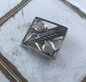 ネックレス アールデコスターリングシルバーダブルブローチゲオルクイェンセンrare art deco sterling silver double bird brooch georg jensen no 250
