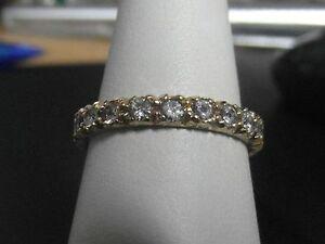 【送料無料】ネックレス ゴールドフルリングサイズ131j 9ct gold full eternity ring with zirconias size m 12