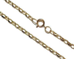 【送料無料】ネックレス 9ctイェローゴールド24ベルチャーチェーン9ct yellow gold 24 belcher chain