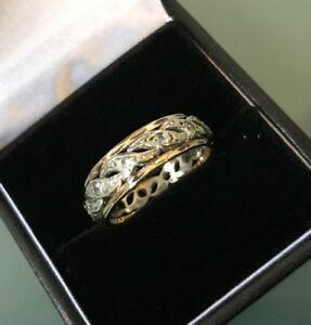 【送料無料】ネックレス 9ctヴィンテージエタニティーリングmultiゴールドサイズo42gwomens 9ct gold vintage eternity ring multitone colour gold size o weight 42g
