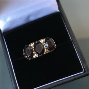 【送料無料】ネックレス ビンテージゴールドゴールドリングガーネットサイズwomens vintage gold 9ct gold ring garnet threestone size n weight 34g stamped