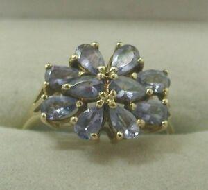 【送料無料】ネックレス ゴールドタンザナイトクラスタリングlovely 9ct gold large tanzanite cluster ring