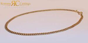 【送料無料】ネックレス スターリングシルバーヘビーメンズインチフラットチェーンゴールドロー925 sterling silver heavy mens 22 inch flat curb chain dipped in 9ct gold 42g