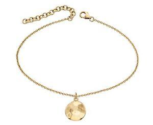 【送料無料】ネックレス デザイナイエローゴールドディスクブレスレットdesigner elements 9ct yellow gold hammered disc bracelet