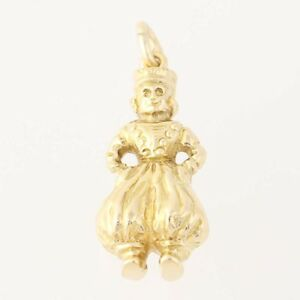 【送料無料】ネックレス イエローゴールドヨーロッパダンスfolk dancer charm 14k yellow gold eastern european dance